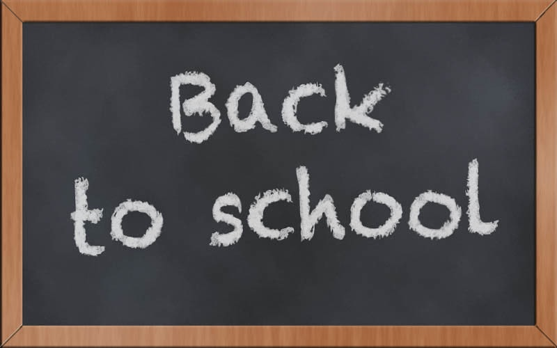 Chalkboard, back to school
