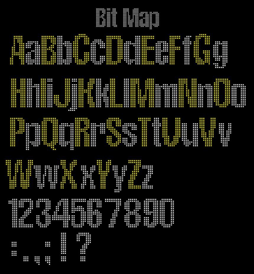 Bitmap font